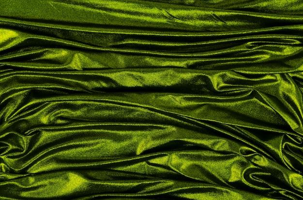 Makro zielony materiał tekstury