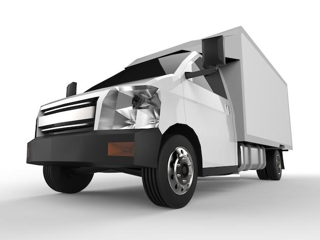 Mała biała ciężarówka