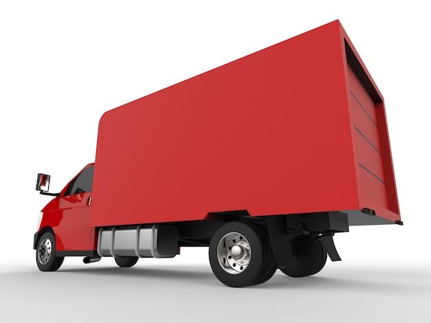 Mała czerwona ciężarówka