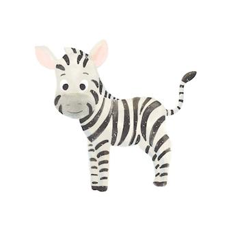 Mała śliczna kreskówki zebra