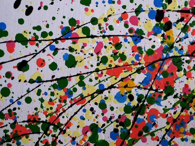 Malarstwo abstrakcyjne na płótnie z teksturą