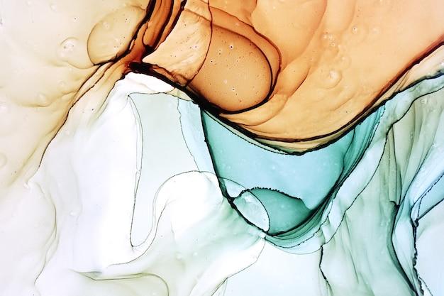 Malarstwo abstrakcyjne tuszem alkoholowym