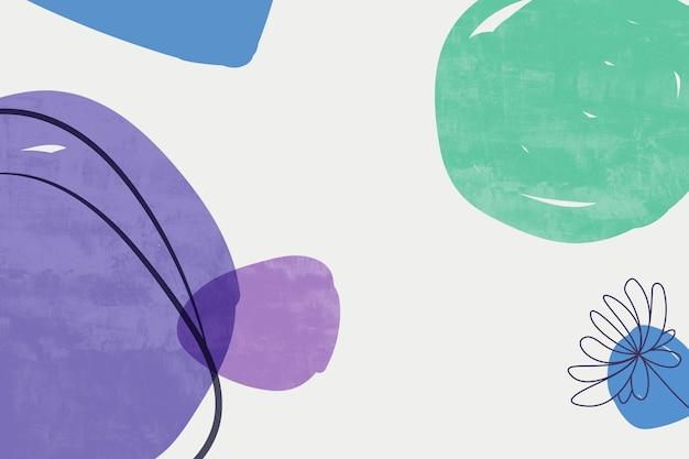 Malarstwo abstrakcyjne z pastelowymi kolorami tła. minimalistyczne elementy geometryczne i ręcznie rysowana linia. skandynawski styl skandynawski z połowy wieku.