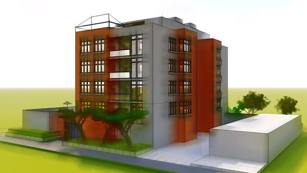 Małe funkcjonalne mieszkanie z własnym ogrodzonym garażem i basenem