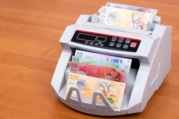 Malediwski rufiyaa w maszynie do liczenia