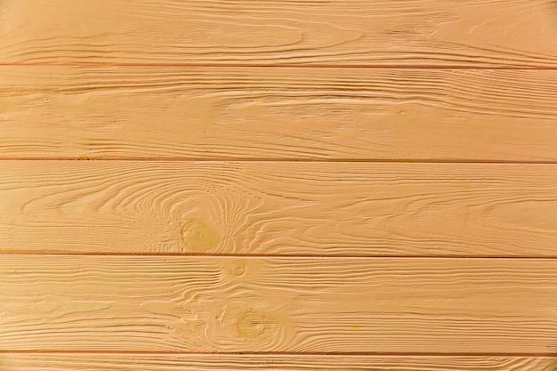Malowana na żółto szorstka drewniana powierzchnia