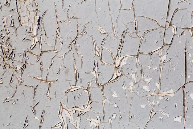 Malowana ściana z efektem crackle grunge