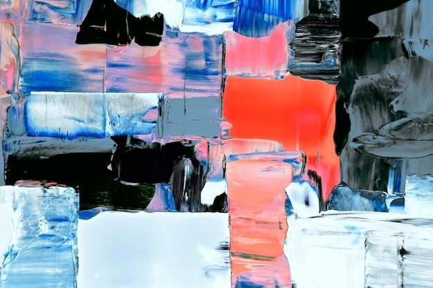 Malowana tapeta w tle, tekstura farby akrylowej