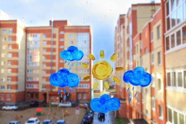 Malowanie dla dzieci na oknie