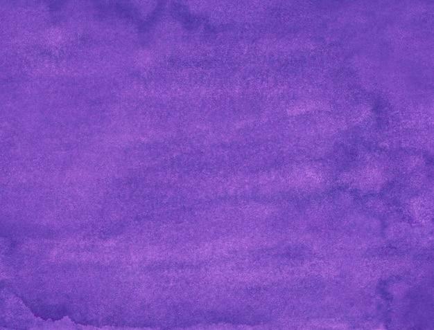 Malowanie tła akwarela głęboka lawenda. aquarelle spokojny królewski fiolet. fioletowo-niebieska, ręcznie malowana tekstura.