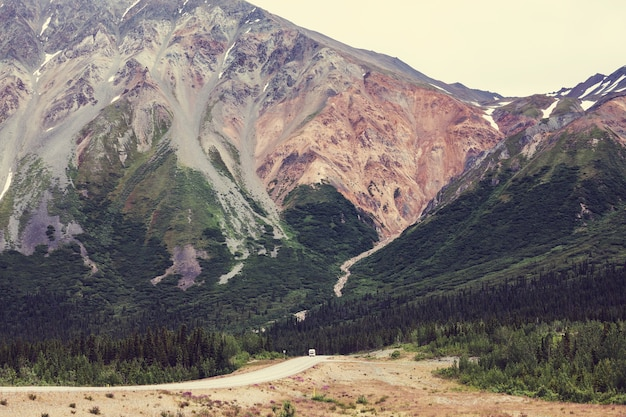 Malownicza autostrada na alasce, usa