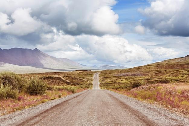 Malownicza autostrada na alasce w usa