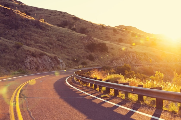 Malownicza droga w górach