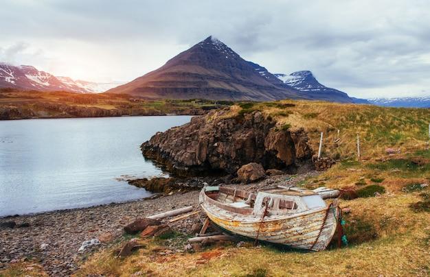 Malownicze krajobrazy lasów i gór islandii