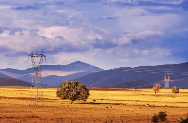 Malownicze krajobrazy wiejskie w turcji. sezon jesienny.