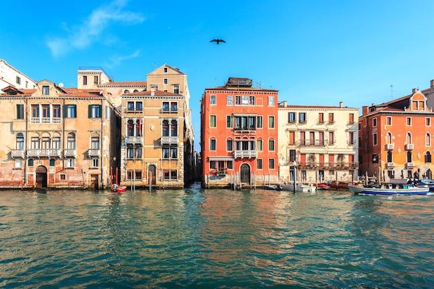 Malowniczy widok na canal grande w wenecji, włochy