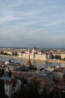 Malowniczy widok w budapeszcie na węgrzech