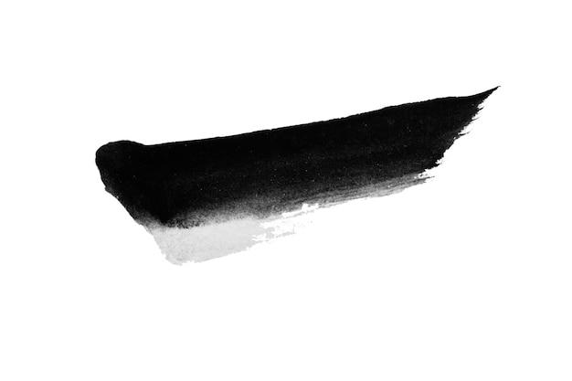 Maluj czarne pociągnięcia pędzla w kolorze tekstury z miejscem na własny tekst