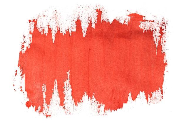 Maluj czerwone obrysy pędzla obrysu koloru tekstury