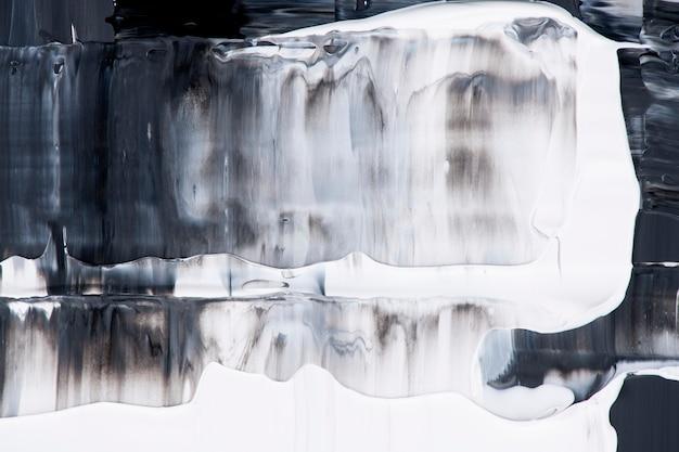 Maluj teksturę tła tapety, czarna abstrakcyjna sztuka w farbie akrylowej