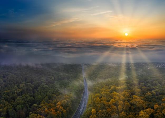 Malwoński jesienny poranek krajobraz