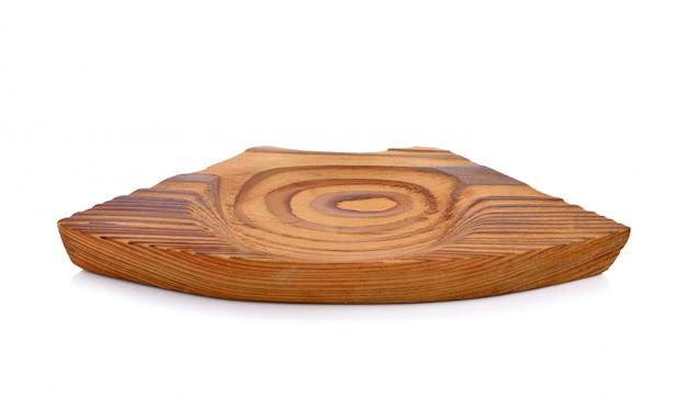 Mały drewniany talerz japoński styl na bielu