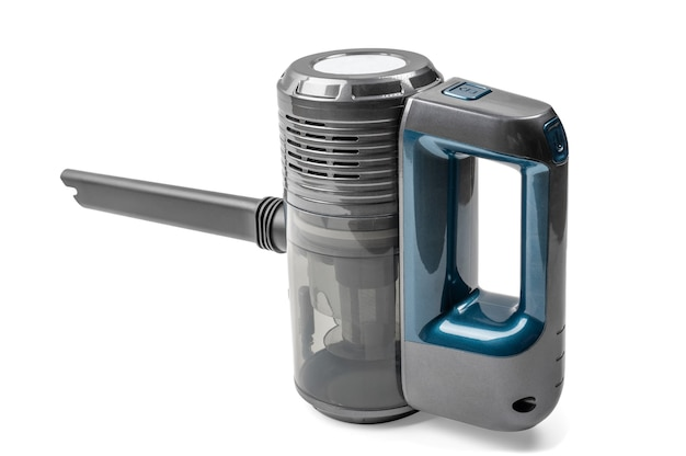 Mały odkurzacz przenośny na białym tle handheld portable vacuum cleaner