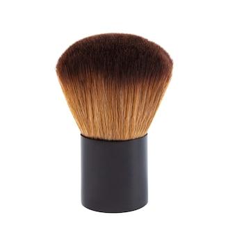 Mały pędzel kosmetyczny do makijażu na białym tle