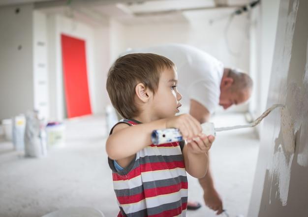 Mały śliczny chłopiec obraz na ścianie