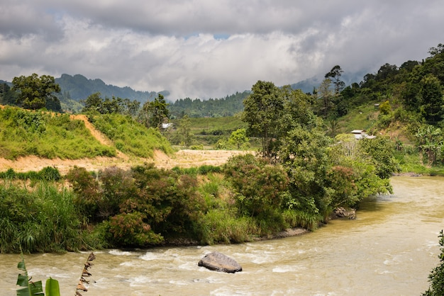 Mamasa valley w sulawesi w indonezji