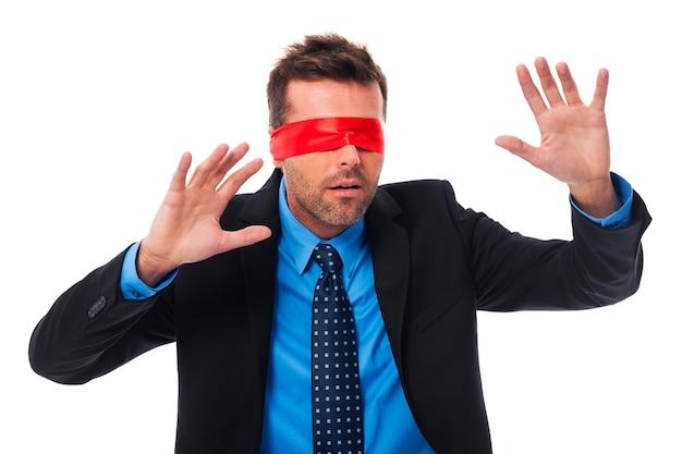 Mamuśka z szalikiem na oczach