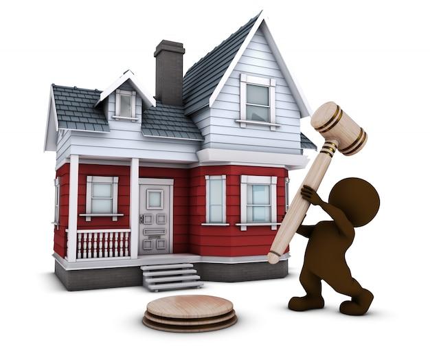 Man sprzedaży domu