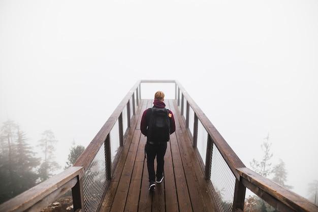 Man walking na punkt widzenia