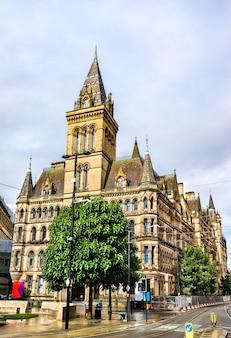 Manchester town hall, wiktoriański, neogotycki budynek komunalny w manchesterze, anglia