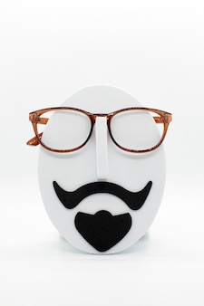 Manekin Moda Męska Na Sobie Modne Okulary Na Białym Tle Premium Zdjęcia