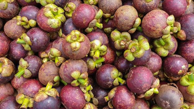 Mangostan o wysokiej zawartości witaminy c przeciwutleniacz w południowo-wschodniej azji tajlandii