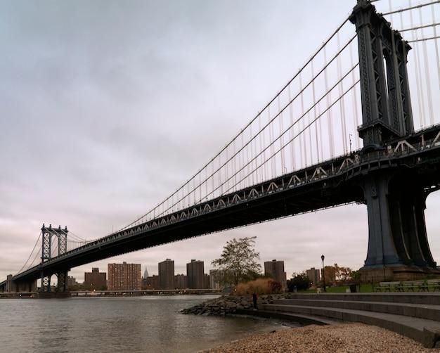 Manhattan bridge, nowy jork, usa