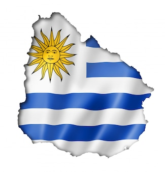 Mapa flaga urugwaju
