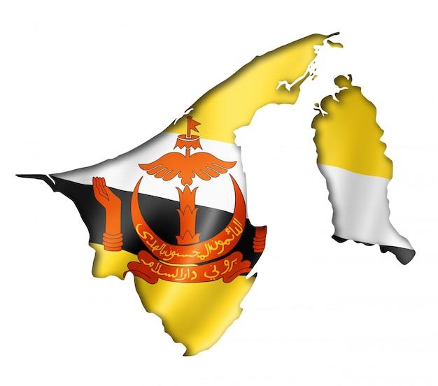 Mapa flagi brunei