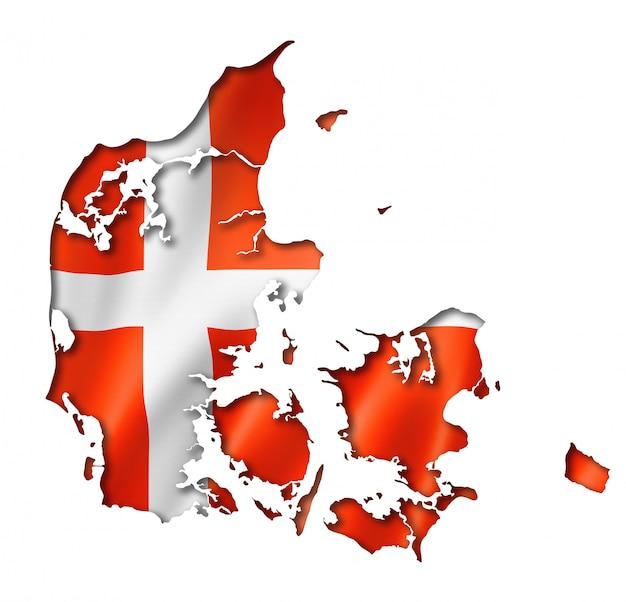 Mapa flagi duńskiej