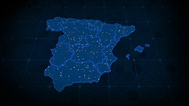 Mapa hiszpanii