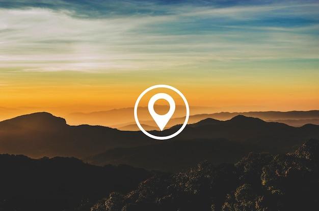 Mapa pin położenie kierunek położenie grafika
