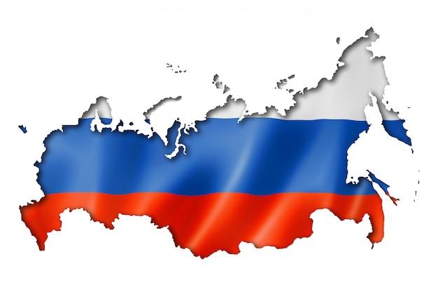 Mapa rosyjskiej flagi
