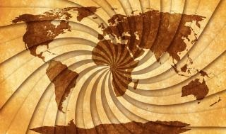 Mapa świata grunge stary
