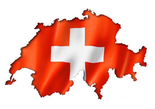 Mapa szwajcarskiej flagi