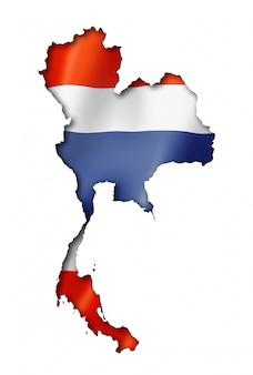 Mapa tajlandii flagi