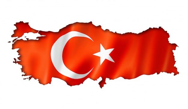 Mapa tureckiej flagi