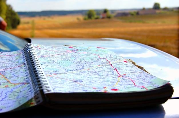 Mapa w samochodzie