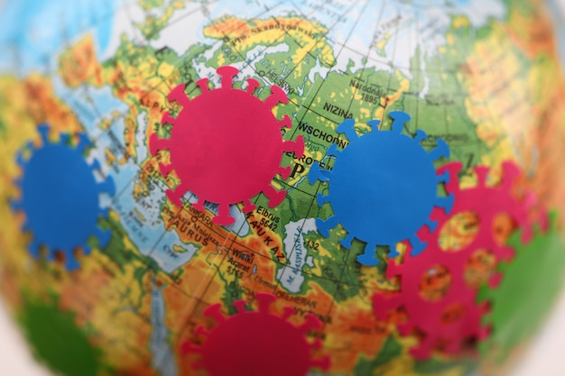 Mapy dystrybucji koronawirusa inwigilacji pandemicznej online zbliżenie