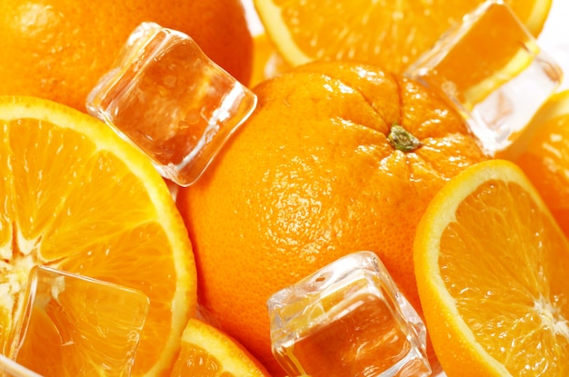 Marco świeżych pomarańczy